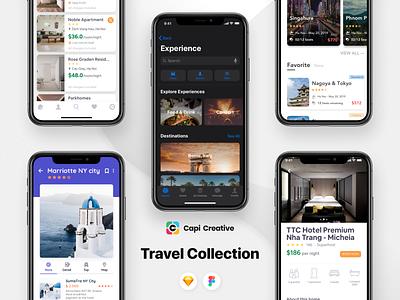 #UIdesign - Travel Collection from Capi uiux travel app app screens mobile app design uidesign ios app design creative ios app ios13