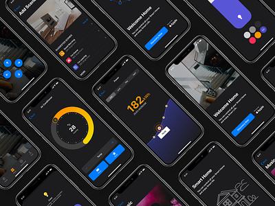 SmartHome iOS UI Kit ios13 ios app modern life app screens ui kit mobile app design mobile app ui ux creative  design ui design creative