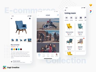 E-commerce App Design e-commerce app app development ui ux ui mobile app design app design ios app figma sketch creative ui kit