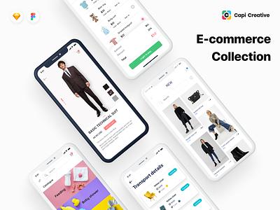 App Design for E-commerce ui designer sketch figma ui kit capi mobile app ios app clean creative web design app design e-commerce design e-commerce app