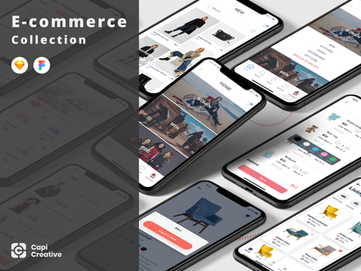 UI Design for E-commerce Apps figma sketch e-commerce app app development ui ux ui design creative app mobile app design ios app design ui kit