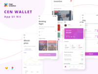 [Updated] Crypto Wallet App Design - Cen Wallet UI Kit