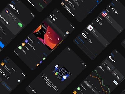 Finance App Design - CaDeep Finance ios 13 ios app ui design mobile app app design ui capi app mobile creative design ui kit