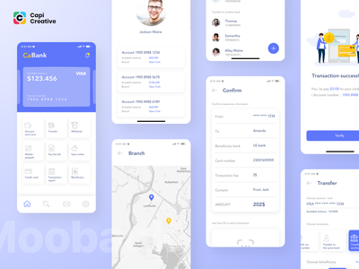 Moobank UI Kit - New Update clean ui app design ui figma vector sketch capi app mobile creative design ui kit