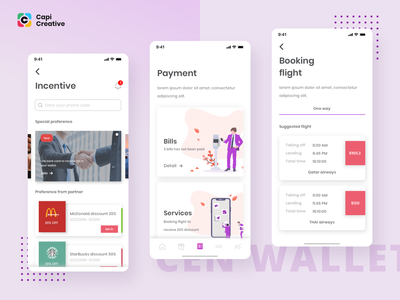 CenWallet UI Kit ui design figma vector sketch capi app mobile creative design ui kit