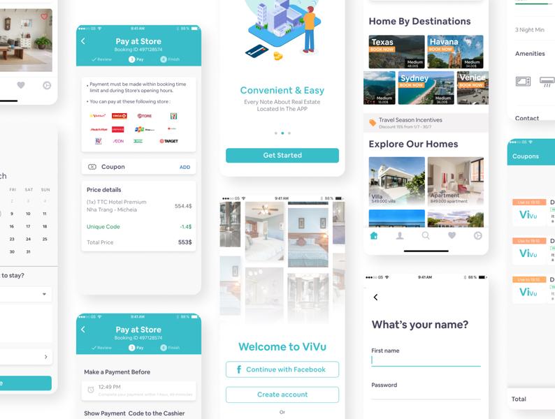 ViVu UI Kit ui design creative mobile app design mobile app app design uidesign ui kit