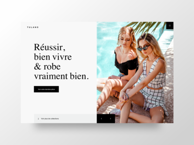 Website concept for a French fashion boutique.