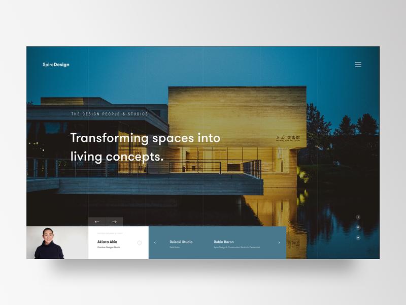 Construction and Interior Design Studio marketing landingpage webdesigner uxdesigner flat minimalism website webdesign uidesign ux ui visualdesign