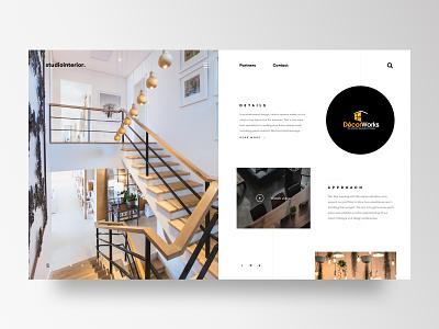 Interior Design Studio website concept user experience interface creativedirection ux ui brand visualdesign webdesign website interior interiordesign