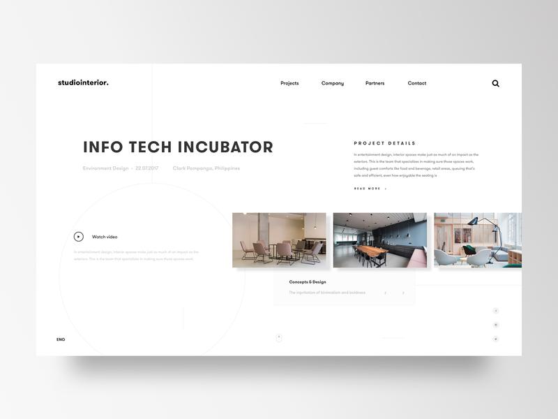 Interior Design & Architecture studio website website concept creativedirection uidesign ux webdesign website visual designer visualdesigner interiordesign environment design branding visualdesign