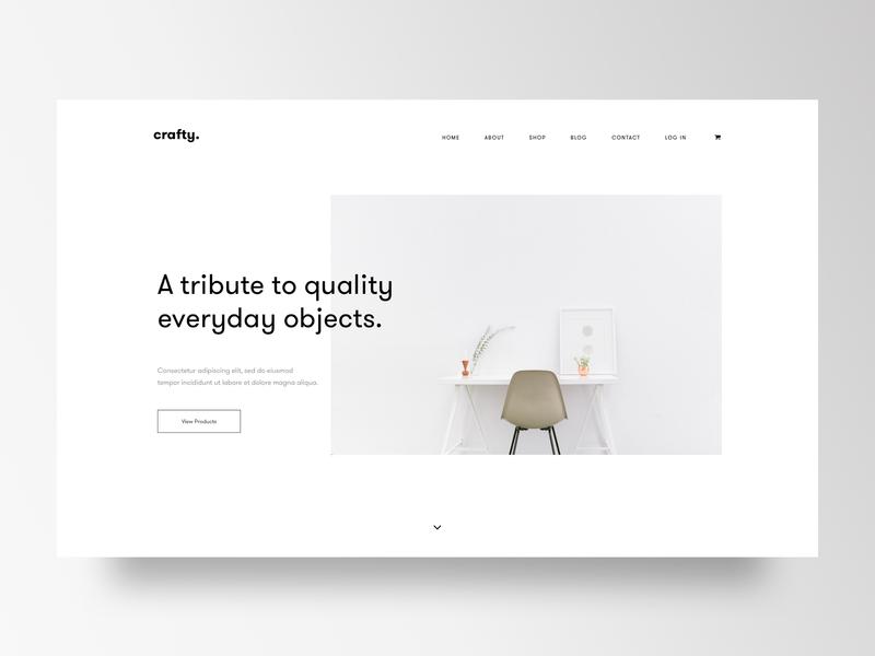Furniture Website furniture minimal trend website webdesign web userinterface ui trending landingpage creative color