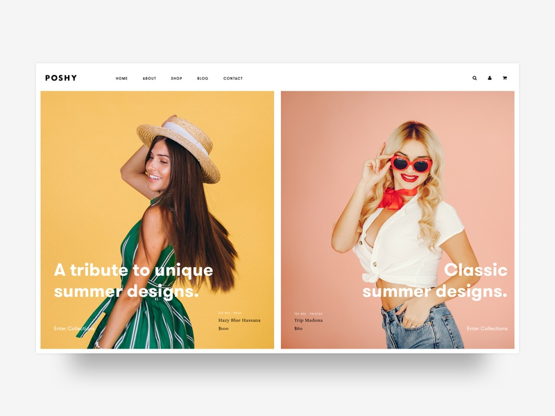 Ecommerce for Women clothes, accessories, shoes and the like. brand ux ui visualdesign 2019 webdesign appdesign shoes clothing website swimsuit ecommerce