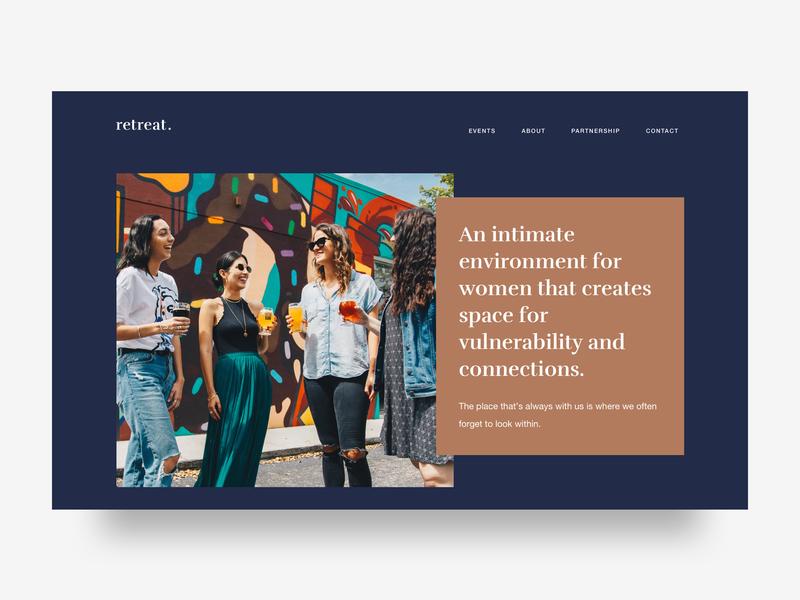 Retreat - Leadership Workshop for Women graphicdesign clean minimal homepage interface ui design webdesign website visualdesigner branding visualdesign