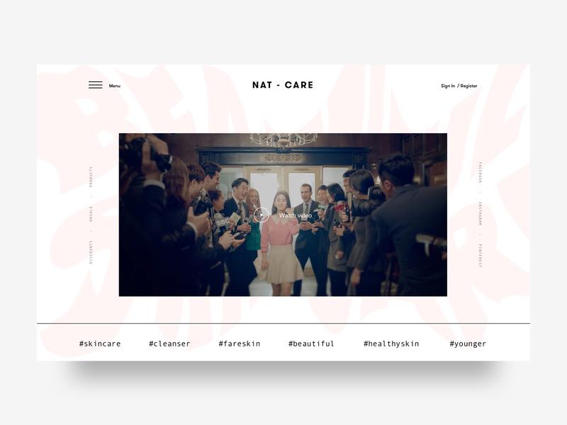 Skin Care Product -  Landing page.. cart website design webshop clean minimal 2019trends landingpage webdesigner website webdesign visualdesign ux ui cosmetics skincare brand appdesign 2019