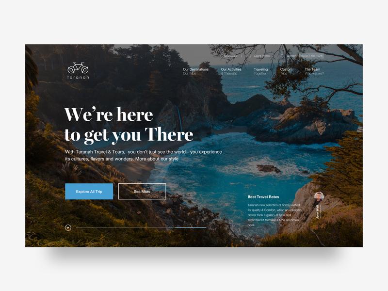 Travel Agency / Planner trend clean minimal 2019 surfing uidesigner webdesign ui userinterface landingpage webdesigner website web agency blog nature adventure