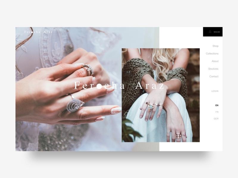 Jewelry maker & Fashion designer Website. designer graphicdesign clean minimalist 2019trends earings fashion visualdesign minimal webdesigner uidesign uidesigner ui webdesigns webshop ecommerce jewelry landingpage webdesign website