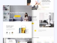 Landing Page Concept - Paint