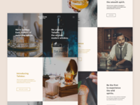 Landing page concept for Spirit / Whiskey Brand.