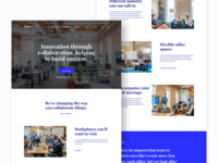 Co-working space Landing page design.