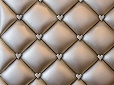 Love Me Do Buttoned Leather Pattern