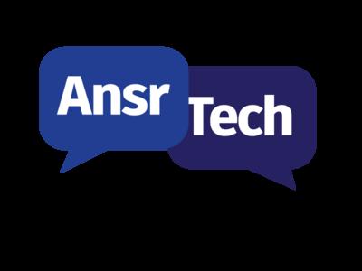 Logo AnsrTech Systems graphics visual design branding design logo design branding graphic  design logo design logo
