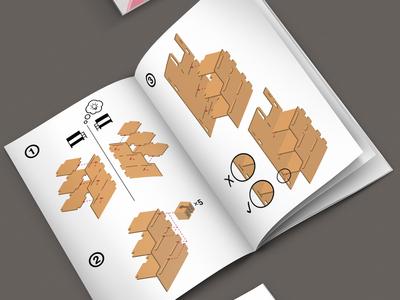 Bunk Bed No Screws Manual ux vector 3d branding graphics graphic design design illustration visual design instruction manual
