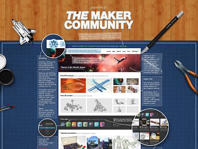Autodesk 123D community architecture graphics ux ui graphic  design 123d 3d design visual design branding autodesk we design website design web  design community