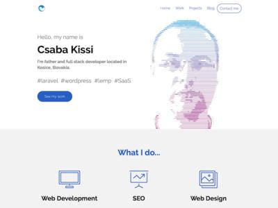 Csaba Kissi Homepage skills portfolio developer homepage