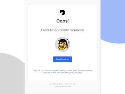 Reset Password HTML email template email template responsive email html email