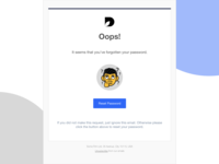 Reset Password HTML email template