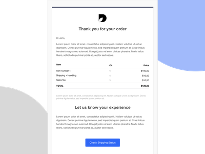 Invoice responsive email html email email template