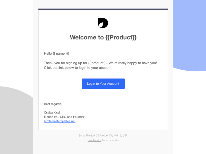 Dribbble Shot responsive email html email email template