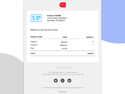 Invoice html email responsive email email template