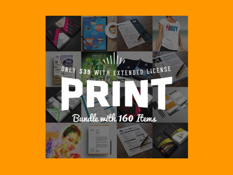 Royal Print Templates Bundle with 160 Items