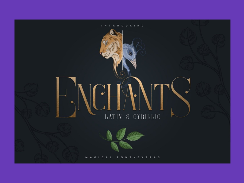 Magical font + Animal Designs + Nature Elements