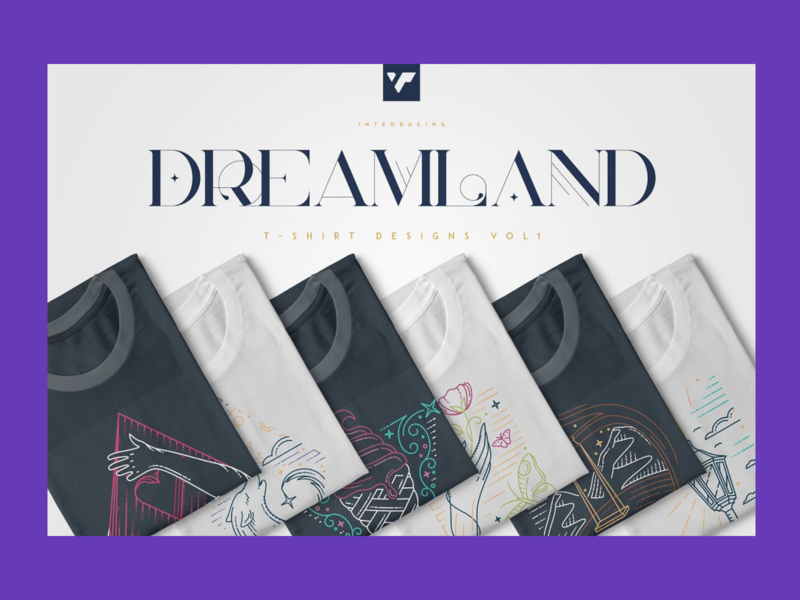 Dreamland: Summer T-Shirt Designs Bundle t-shirt illustration t-shirt graphic t-shirt design t-shirt
