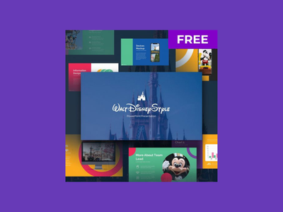 Free Disney Powerpoint Designs Themes Templates And Downloadable Graphic Elements On Dribbble