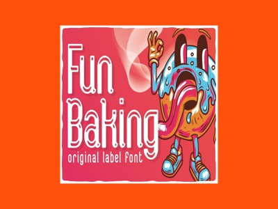 Fun Baking Font OTF & TTF font baking fun