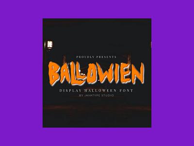 Ballowien – Halloween Font font halloween