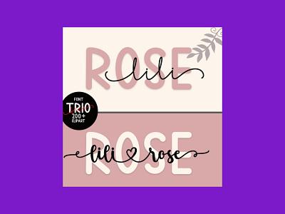 Lili Rose Elegant and Dainty Duo Font font dainty
