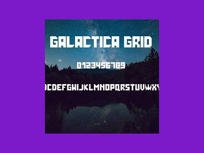Grid Font: Galactica Futuristic Gaming Font font grid