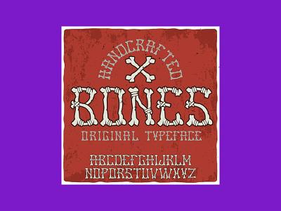 Bones Font: Bones Halloween Typeface typeface bones