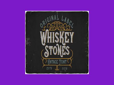 Whiskey Stones Typeface typeface stones whiskey