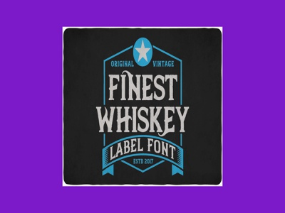 Finest Whiskey Font & Illustrations font whiskey finest
