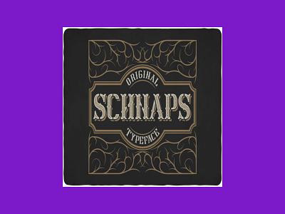 Schnaps Typeface & Illustrations typeface schnaps