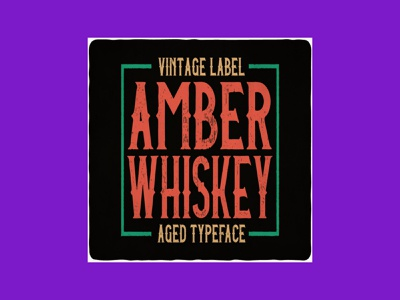 Amber Whiskey Font Bundle font whiskey amber