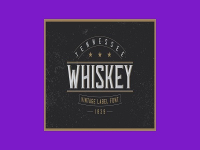 Tennessee Whiskey Label Font font label whiskey tennessee