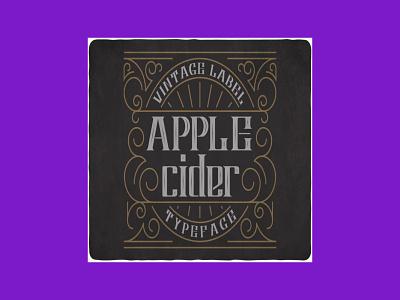 Apple Cider Typeface typeface cider apple