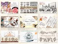 Ultimate Vintage Bundle: Illustrations, Brushes, Fonts