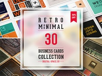 30 Retro and Minimal Business Cards Bundle – just $29